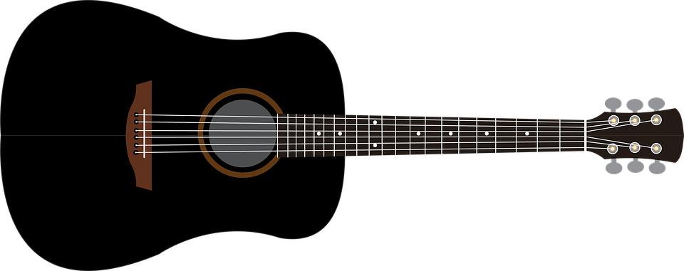 acoustic guitar drawing