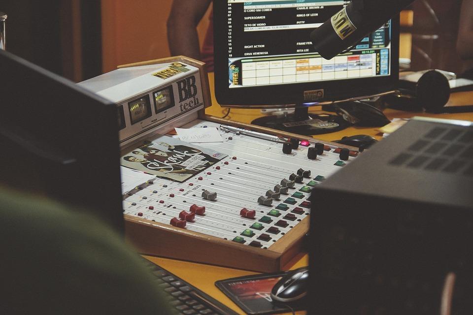 computer in recording studio