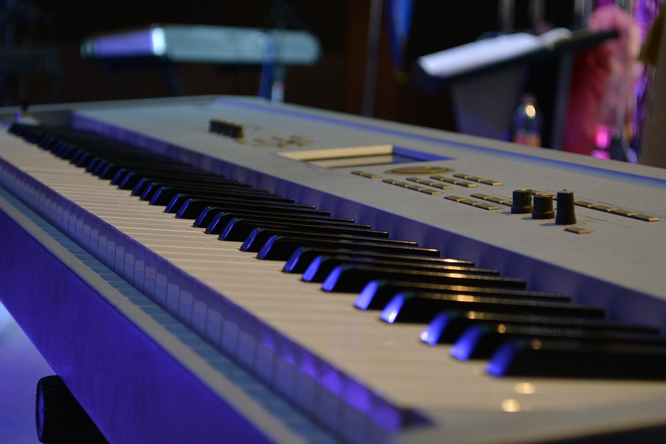 Blue synth keyboard