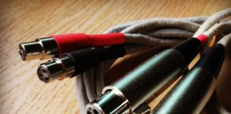 coiled up audio cables