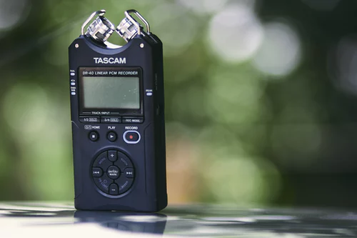 tascam portable audio recorder
