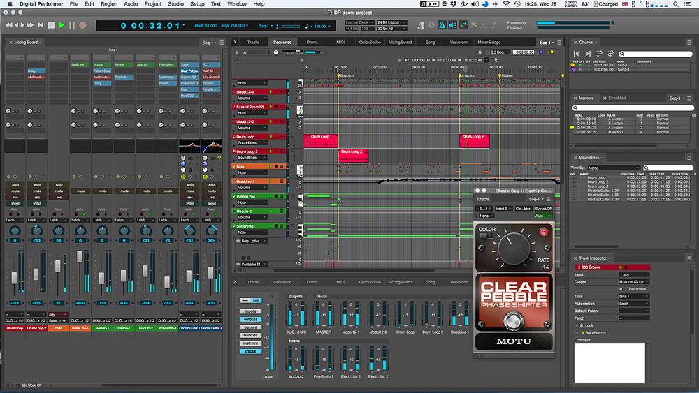 MOTU Digital Performer Screenshot