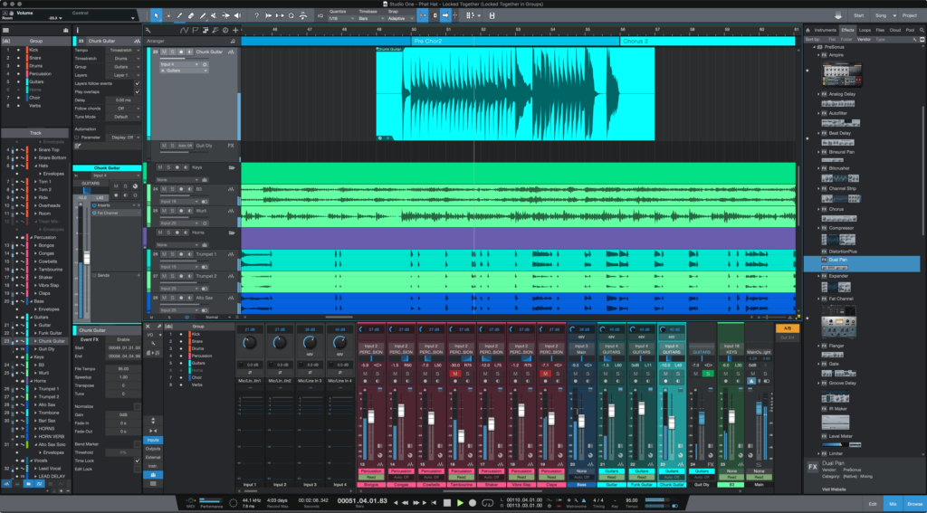 PreSonus Studio One screenshot